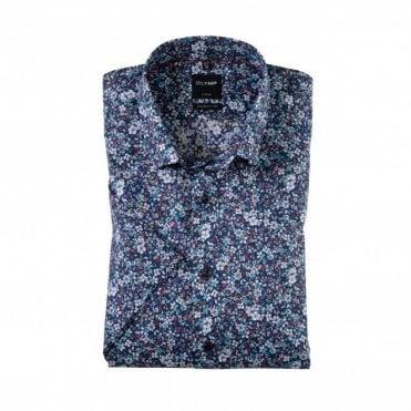 Modern Fit Luxor Floral Shirt - Blue