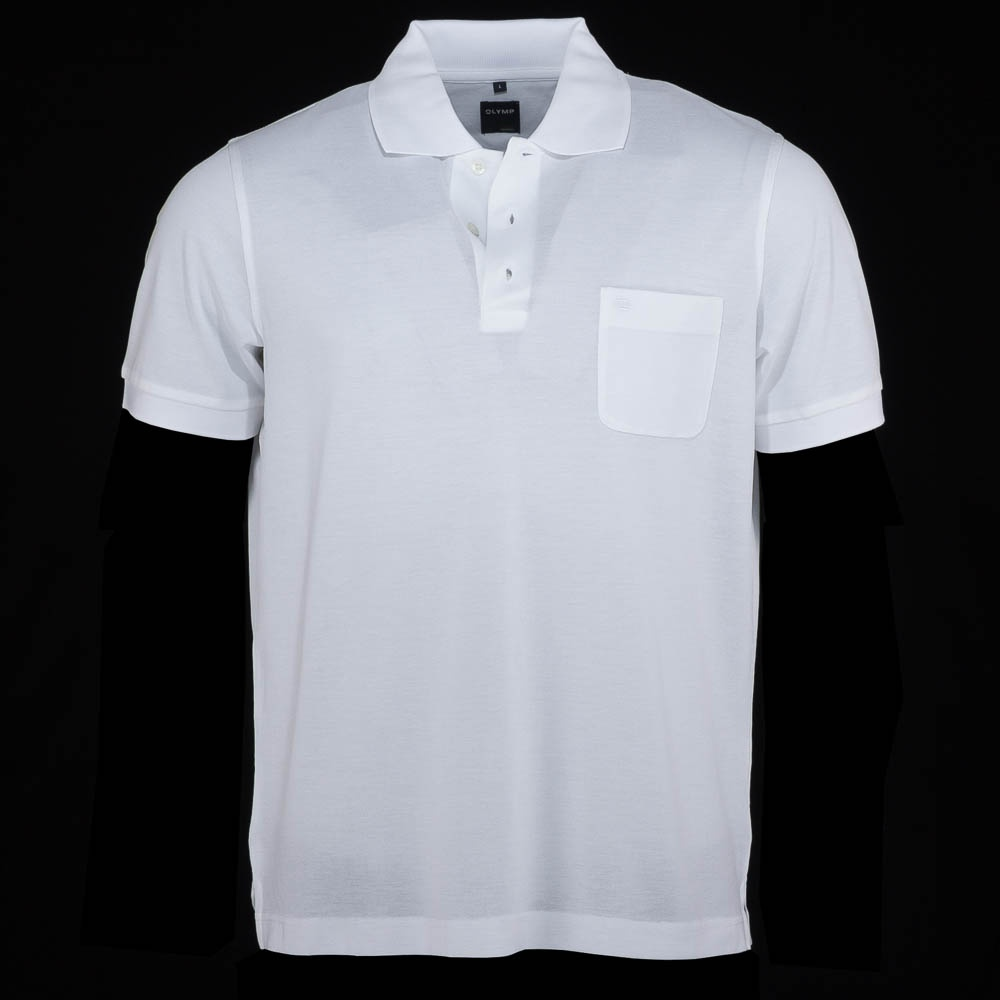 Plain Polo Shirt - White - Mens from Charles Hobson of ...