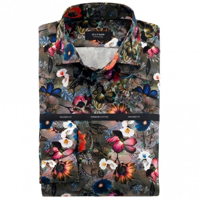 OLYMP SIGNATURE Multicolour Floral Shirt