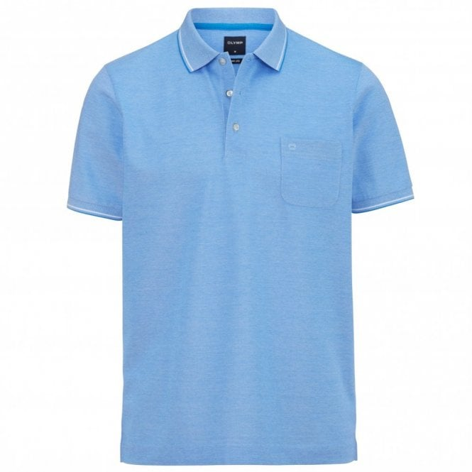 Olymp two ply polo shirt - Blue