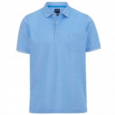 two ply polo shirt - Blue