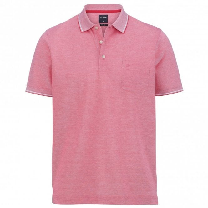 Olymp two ply polo shirt - Pink