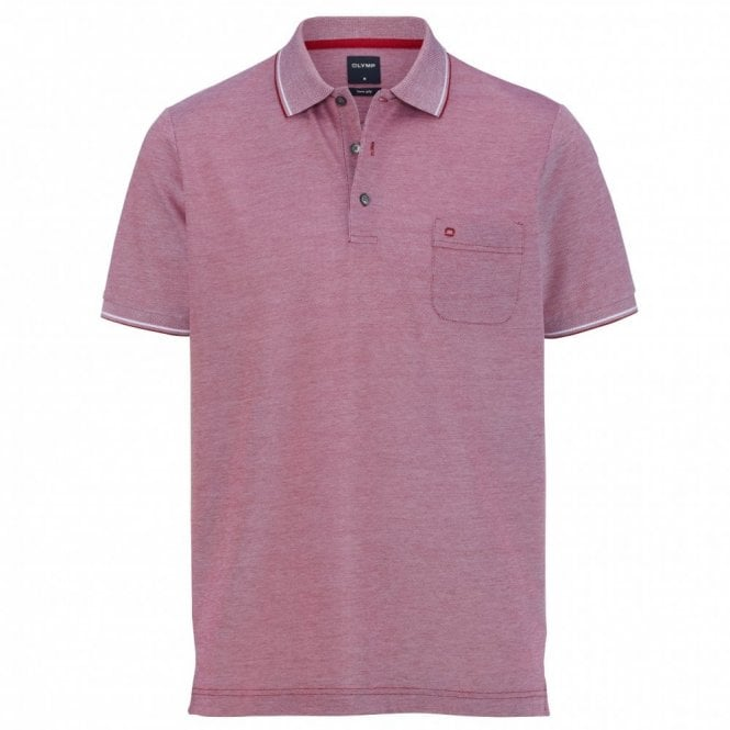 Olymp two ply polo shirt - Red
