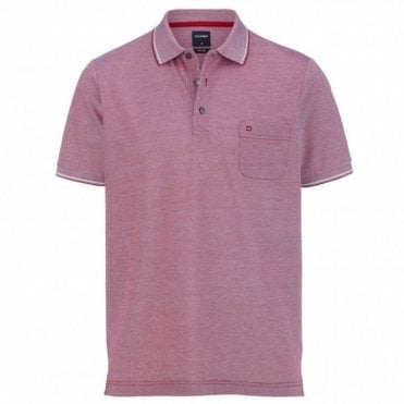two ply polo shirt - Red