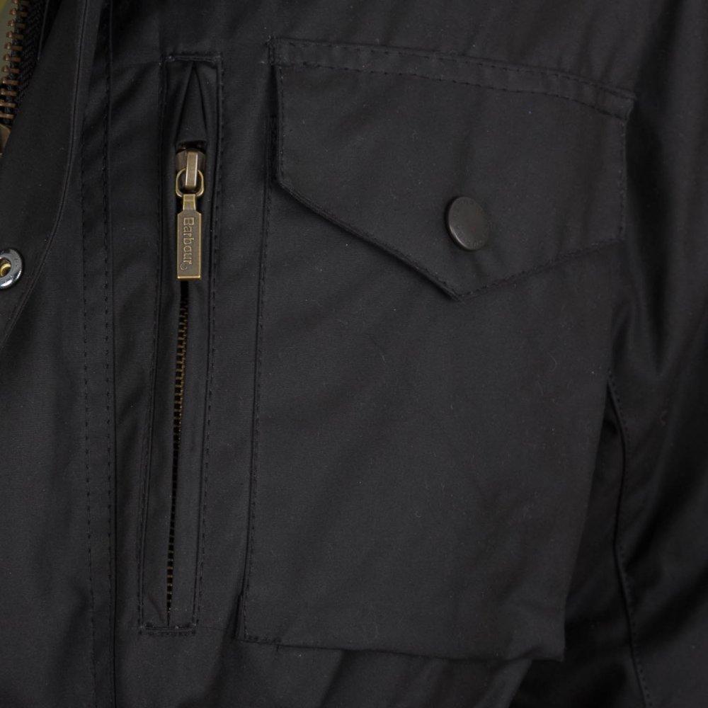 c6461e85d3c15 Sapper Waxed Jacket - Black