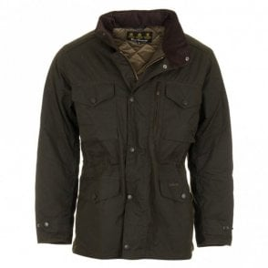 Sapper Waxed Jacket - Olive Green