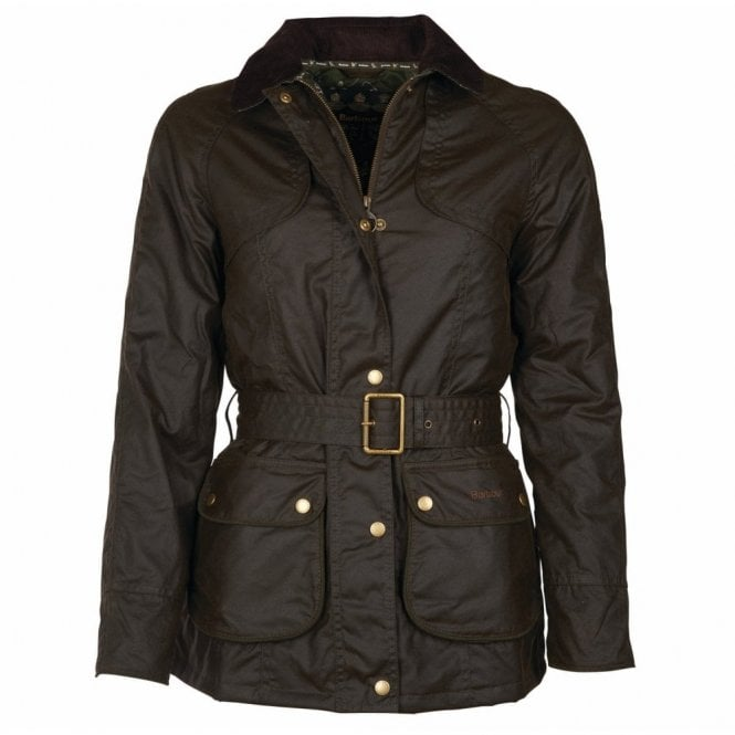 Barbour Women's Ambleside Wax Jacket Olive - Green
