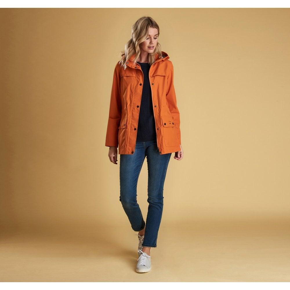 18129512d Women's Drizzel Waterproof Breathable Jacket - Marigold Orange